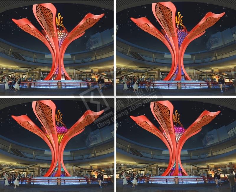 河源越王广场雕塑灯光工程